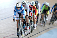 Holly White of Auckland competes in the Elite Women Omnium 1, Scratch Race 7.5km,  at the Age Group Track National Championships, Avantidrome, Home of Cycling, Cambridge, New Zealand, Sunday, March 19, 2017. Mandatory Credit: © Dianne Manson/CyclingNZ  **NO ARCHIVING**