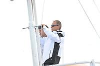 SKUTSJESILEN: LANGWEER: Langwarder Wielen, 02-08-2012, SKS skûtsjesilen, wedstrijd Langweer, SKS bestuurslid, secretaris René Nagelhout, ©foto Martin de Jong