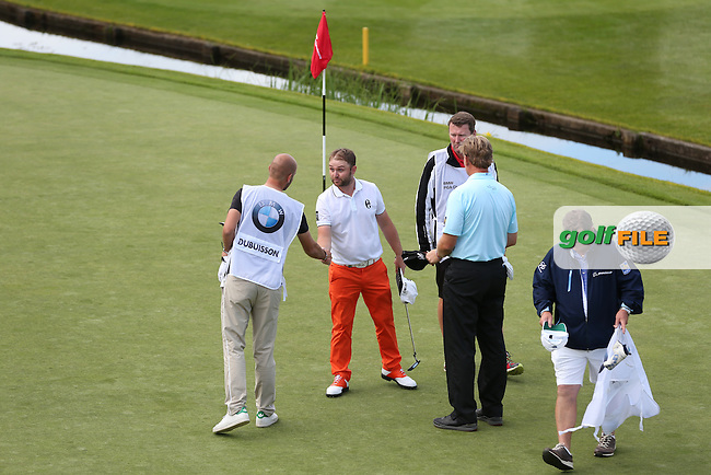 Andy Sullivan (ENG) completing Round Two of the 2015 BMW PGA Championship over the West Course at Wentworth, Virginia Water, London. 22/05/2015Picture David Lloyd, www.golffile.ie.