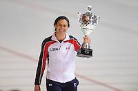 SCHAATSEN: ERFURT: Gunda Niemann Stirnemann Eishalle, 22-03-2015, ISU World Cup Final 2014/2015, winner 1000m Ladies World Cup, Brittany Bowe (USA), ©foto Martin de Jong