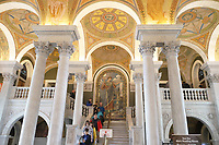WASHINGTON DC, EUA, 08.10.2019 - TURISMO-WASHINGTON DC - Livraria do Congresso, na cidade de Washington DC, capital dos Estados Unidos, nesta terça-feira, 8. (Foto Charles Sholl/Brazil Photo Press/Folhapress)