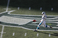 Carolina Panther's Todd Sauerbrun (10) punts the ball away during the game on Oct. 31, 2004 at Qwest Field in Seattle.