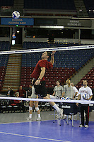 15 December 2007: Stanford Cardinal volunteer assistant coach Chris Muscat during Stanford's 2007 NCAA Division I Women's Volleyball Final Four closed practice at ARCO Arena in Sacramento, CA.