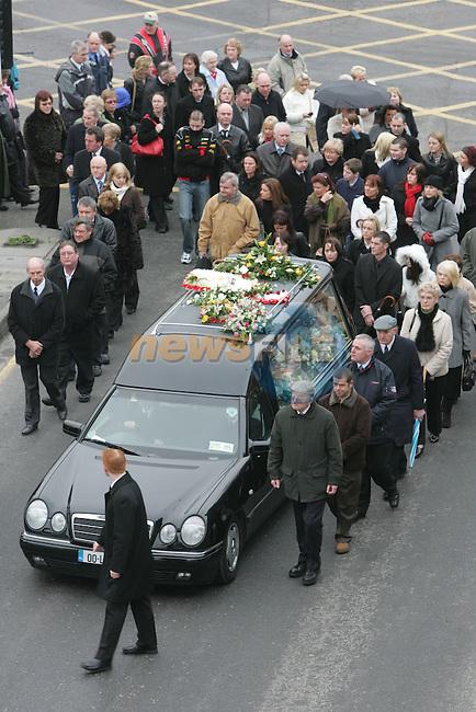 Funeral of Paddy Kierans.Photo: Fran Caffrey/ Newsfile.<br />
