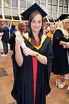 With Compliments,  25/8/2015  Attending the University of Limerick Conferrings was Aileen O' Sullivan, Currow, Co. Kerry, who was conferred with a LLB in Law Plus.<br /> Pic: Gareth Williams / Press 22