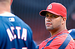 4 August 2007: St. Louis Cardinals first baseman Albert Pujols awaits batting practice prior to a game against the Washington Nationals at RFK Stadium in Washington, DC. The Nationals defeated the Cardinals 12-1 in the second game of their 3-game series...Mandatory Photo Credit: Ed Wolfstein Photo