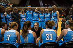 GRAND RAPIDS, MI - MARCH 18: Head coach Carla Berube of Tufts University motivates her team during the Division III Women's Basketball Championship held at Van Noord Arena on March 18, 2017 in Grand Rapids, Michigan. Amherst College defeated Tufts University 52-29 for the national title. (Photo by Brady Kenniston/NCAA Photos via Getty Images)
