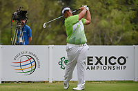 Kiradech Aphibarnrat (THA) watches his tee shot on 18 during round 4 of the World Golf Championships, Mexico, Club De Golf Chapultepec, Mexico City, Mexico. 2/24/2019.<br /> Picture: Golffile | Ken Murray<br /> <br /> <br /> All photo usage must carry mandatory copyright credit (© Golffile | Ken Murray)