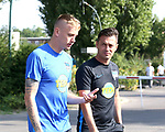 04.09.2019, Sportpark, Berlin, GER, 1.FBL, DFL,, Hertha BSC Training,<br /> DFL, regulations prohibit any use of photographs as image sequences and/or quasi-video<br /> im Bild Cheftrainer (Head Coach) Ante Comic (Hertha BSC Berlin), Marius Wolf (Hertha BSC Berlin #44)<br /> <br />       <br /> Foto © nordphoto / Engler