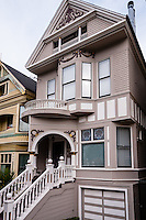 United States, California, San Francisco. Janis Joplin's house at 122 Lyon Street in Haight-Ashbury.
