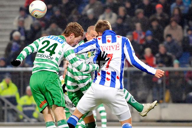 voetbal sc heerenveen - de graafschap eredivisie seizoen 2010-2011 18-12-2010   leon broekhof met viktor elm