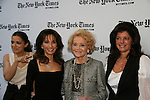 Rebecca Budig & Susan Lucci and Agnes Nixon and Julie Hanan Carruthers - All My Children at 40 celebrate on January 10, 2010 at the New York Times Arts & Leisure Weekend at the TimesCenter Stage, New York City, New York. (Photo by Sue Coflin/Max Photos)
