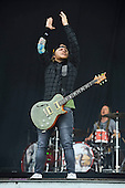 SHINEDOWN - guitarist Jasin Todd - performing live on Day Three on the Lemmy Stage at Download Festival at Donington Park UK - 12 Jun 2016.  Photo credit: Zaine Lewis/IconicPix