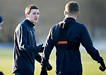 St Johnstone Training&hellip;.14.12.18    McDiarmid Park<br />Blair Alston talks with Jason Kerr during training this morning ahead of tomorrows game against Motherwell<br />Picture by Graeme Hart.<br />Copyright Perthshire Picture Agency<br />Tel: 01738 623350  Mobile: 07990 594431