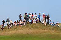 A small crowd beside the 15th green during Round 4 of the East of Ireland Amateur Open Championship sponsored by City North Hotel at Co. Louth Golf club in Baltray on Monday 6th June 2016.<br /> Photo by: Golffile   Thos Caffrey