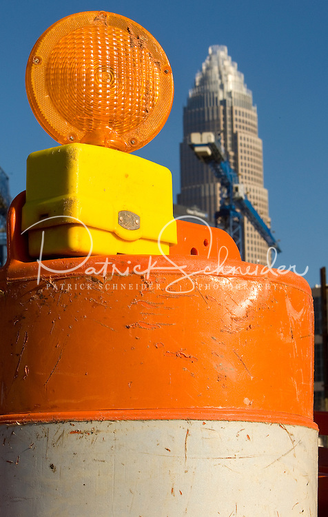 Photography of Charlotte, NC, road construction projects. ..Charlotte, the largest city in North Carolina and the 20th-largest city in the country, is one of the nation?s fastest-growing areas. Experts say the Charlotte population has grown 46 percent between 1990 and 2006.