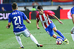 Atletico de Madrid's Nico Gaitan and Deportivo Alaves's Kiko Femenia during the match of La Liga Santander between Atletico de Madrid and Deportivo Alaves at Vicente Calderon Stadium. August 21, 2016. (ALTERPHOTOS/Rodrigo Jimenez)