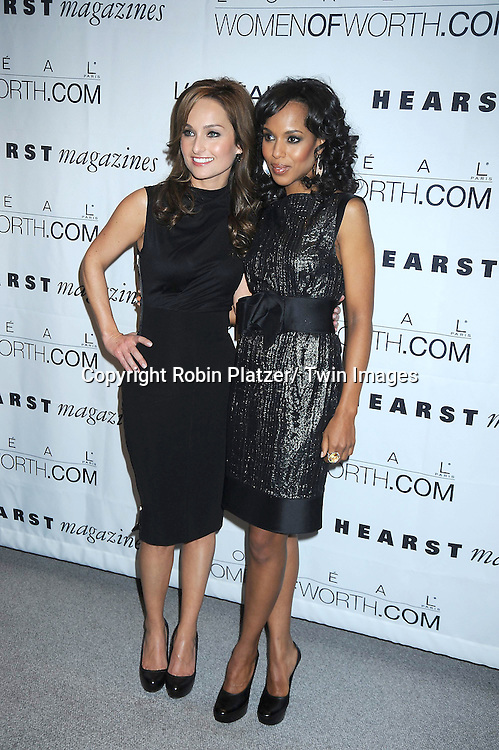 Giada de Laurentiis and Kerry Washington at The L' Oreal Paris Fifth Annual Women of Worth Awards honoring Extraordinary Women Dedicated to Volunteerisim and Community at The Hearst Tower on December 9, 2010 in New York City.