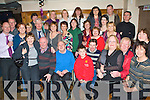 Double Party - Staff from Tralee Tax Office gathered in Kerins O'Rahillys GAA Club on Friday night to bid farewell to David O'Connell from Mountcollins, seated centre left, who is off to the Newcastlewest office and to celebrate the 50th birthday of Pat O'Connor from Curraheen, seated centre right........................................................................................................ ............