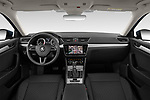 Stock photo of straight dashboard view of a 2020 Skoda Superb Ambition 5 Door Hatchback