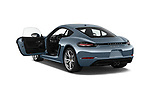 Car images close up view of a 2018 Porsche 718 Cayman S 2 Door Coupe doors