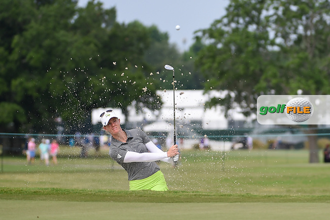 Amy Olson (USA) hits from the trap on 9 during round 2 of the 2019 US Women's Open, Charleston Country Club, Charleston, South Carolina,  USA. 5/31/2019.<br /> Picture: Golffile | Ken Murray<br /> <br /> All photo usage must carry mandatory copyright credit (© Golffile | Ken Murray)