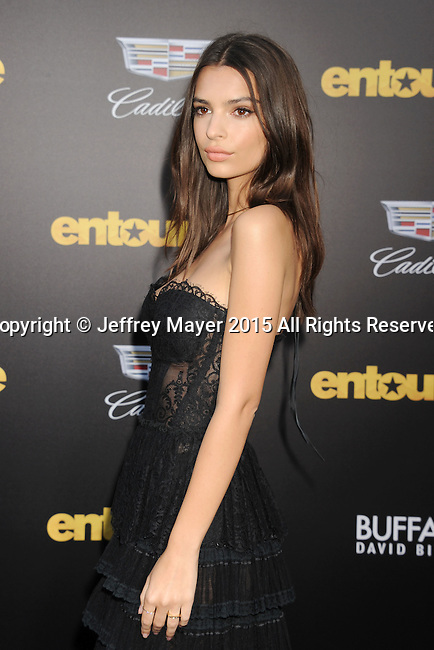 WESTWOOD, CA - JUNE 01: Actress/model Emily Ratajkowski arrives at the 'Entourage' - Los Angeles Premiere at Regency Village Theatre on June 1, 2015 in Westwood, California.