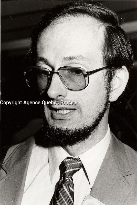 Montreal (QC) CANADA file photo - 1984-Yves Berube, Quebec Minister of Education