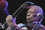 Famed Blues guitarist B.B. King performs during a national concert tour