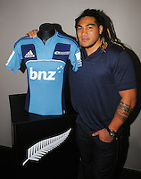Ma'a Nonu announces his decision to re-sign with the NZRU and to sign with the Blues at NZRU Head Office, Wellington,New Zealand on Friday, 1 July 2011. Photo: Dave Lintott / lintottphoto.co.nz
