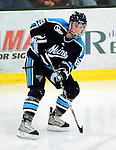 30 January 2010: University of Maine Black Bears' forward Gustav Nyquist, a Sophomore from Malmo, Sweden, in action against the University of Vermont Catamounts at Gutterson Fieldhouse in Burlington, Vermont. The Black Bears and the Catamounts played to a 4-4 tie in the second game of their America East weekend series. Mandatory Credit: Ed Wolfstein Photo