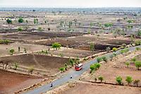 Drought-hit farmland near Latur, Maharashtra, western India.