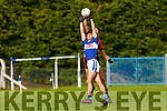 Both Number 8's Tadhg McEllistrem Ballylongford and Mark Buckley Tarbert  contest the high ball during the North Kerry Championship game in Ballylongford on Sunday.