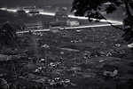 Photo shows the flattened landscape of a once thriving community flattened by the March 11 disasters in  Ishinomaki,  Miyagi Prefecture, Japan.  Photographer: Robert Gilhooly
