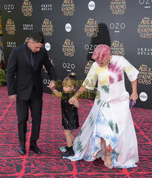 Carey Hart, Willow Sage and Pink ( Alecia Beth Moore ) attend The Premiere Of Disney's &quot;Alice Through The Looking Glass&quot; held at The El Capitan Theatre  in Hollywood, California on May 23,2016                                                                                <br /> CAP/DVS<br /> &copy;DVS/Capital Pictures