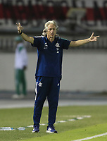 BARRANQUILLA, COLOMBIA - MARCH 04: Flamengo's coach Jorge Jesus gestures during the group A match of Copa CONMEBOL Libertadores between Junior and Flamengo at Estadio Metropolitano on March 4, 2020 in Barranquilla, Colombia. (Photo by Daniel Munoz/VIEW press via Getty Images)