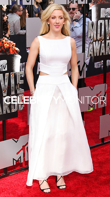 LOS ANGELES, CA, USA - APRIL 13: Singer Ellie Goulding arrives at the 2014 MTV Movie Awards held at Nokia Theatre L.A. Live on April 13, 2014 in Los Angeles, California, United States. (Photo by Xavier Collin/Celebrity Monitor)