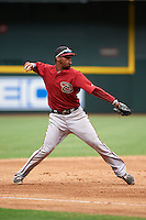 Arizona Diamondbacks Dawel Lugo (6) during an instructional league game against the San Francisco Giants on October 16, 2015 at the Chase Field in Phoenix, Arizona.  (Mike Janes/Four Seam Images)