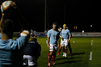 Matas Jurevicius of London Scottish warming up during the Championship Cup match between London Scottish Football Club and Yorkshire Carnegie at Richmond Athletic Ground, Richmond, United Kingdom on 4 October 2019. Photo by Carlton Myrie / PRiME Media Images