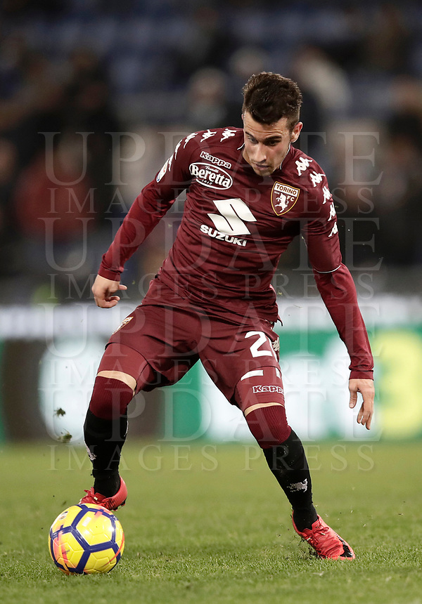 Calcio, Serie A: Roma, stadio Olimpico, 11 dicembre 2017.<br /> Torino's Alejandro Berenguer in action with during the Italian Serie A football match between Lazio and Torino at Rome's Olympic stadium, December 11, 2017.<br /> UPDATE IMAGES PRESS/Isabella Bonotto