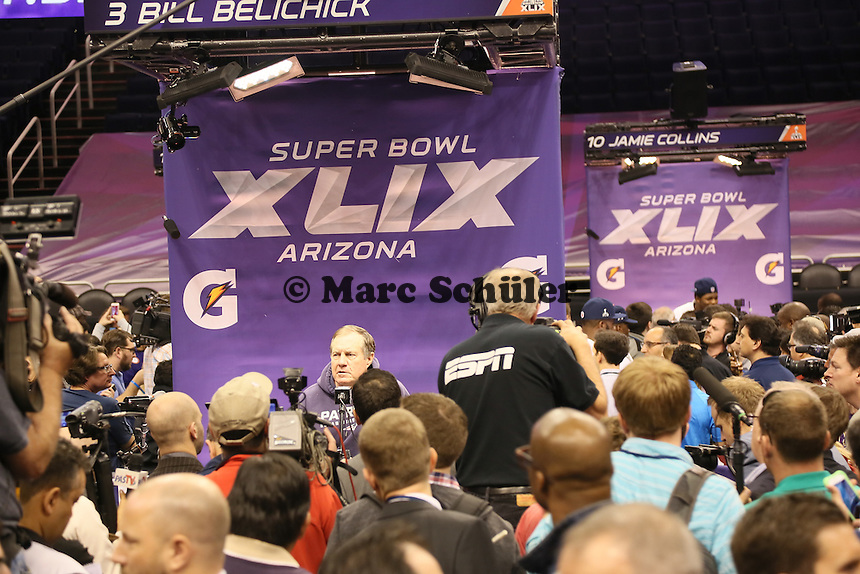 Trainer Bill Belichick (Patriots) - Super Bowl XLIX Media Day, US Airways Center, Phoenix