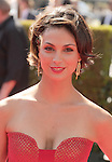 LOS ANGELES, CA - SEPTEMBER 15: Morena Baccarin arrives at the 2012 Primetime Creative Arts Emmy Awards at Nokia Theatre L.A. Live on September 15, 2012 in Los Angeles, California.