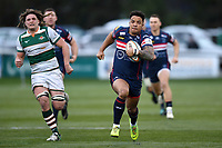 Curtis Wilson of Doncaster Knights goes on the attack. Greene King IPA Championship match, between Ealing Trailfinders and Doncaster Knights on February 9, 2019 at the Trailfinders Sports Ground in London, England. Photo by: Patrick Khachfe / Onside Images