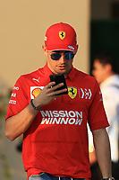 28th November 2019; Yas Marina Circuit, Abu Dhabi, United Arab Emirates; Formula 1 Abu Dhabi Grand Prix, arrivals day; Scuderia Ferrari, Charles Leclerc - Editorial Use
