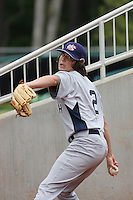 Luke Jackson of Calvary Christian Academy in Southwest Ranches, Florida pitching for the Babe Ruth-sponsored team at the Tournament of Stars event run by USA Baseball at the USA Baseball National Training Complex in Cary, NC on June 23, 2009. Jackson was selected in the 1st round Supplemental (45th overall) by the Texas Rangers in the 2010 MLB Draft.  Photo by Robert Gurganus/Four Seam Images