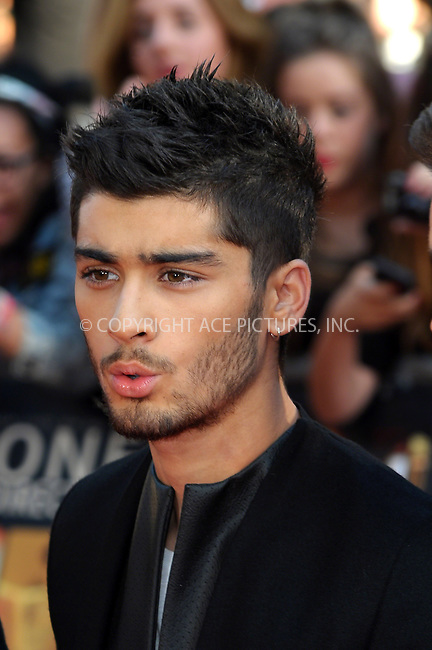 WWW.ACEPIXS.COM<br /> <br /> US Sales Only<br /> <br /> August 20 2013, London<br /> <br /> Zayn Malik of One Direction at the World Premiere of 'One Direction: This Is Us' at the Empire Leicester Square on August 20 2013 in London<br /> <br /> By Line: Famous/ACE Pictures<br /> <br /> <br /> ACE Pictures, Inc.<br /> tel: 646 769 0430<br /> Email: info@acepixs.com<br /> www.acepixs.com