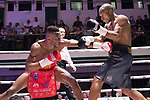 Linus Udofia vs Ashley Bailey Dumetz 6x3 - Middleweight Contest During Goodwin Boxing - Date With Destiny. Photo by: Simon Downing.<br /> <br /> Saturday September 23rd 2017 - York Hall, Bethnal Green, London, United Kingdom.