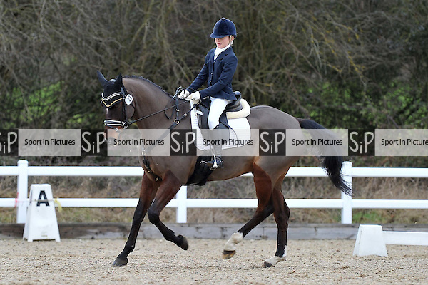Class 4. Novice 38. Affiliated dressage (BD). Brook Farm Training Centre. Essex. 14/01/2017. MANDATORY Credit Garry Bowden/Sportinpictures - NO UNAUTHORISED USE - 07837 394578