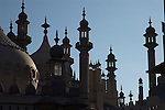 The Royal Pavilion in silhouette, Brighton, Sussex, England UK