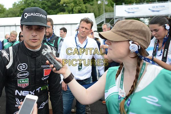 LONDON, ENGLAND - 28 JUNE ; Nelson Piquet Jr winner of The London Visa ePrix at Battersea Park, London, England 28th June 2015<br /> CAP/DYL<br /> &copy;Dylan/Capital Pictures